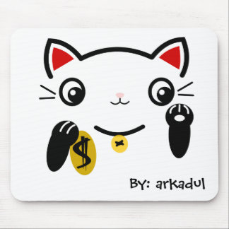 """""""The lucky cat"""" Mouse Pad"""