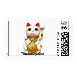 The Lucky Cat Postage Stamp