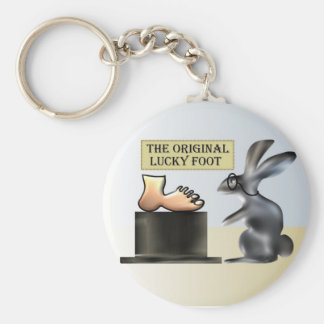 The lucky foot by Anjo Lafin Basic Round Button Keychain