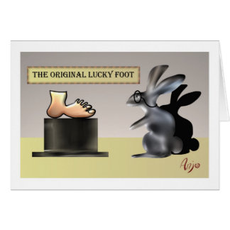 The lucky foot by Anjo Lafin Card