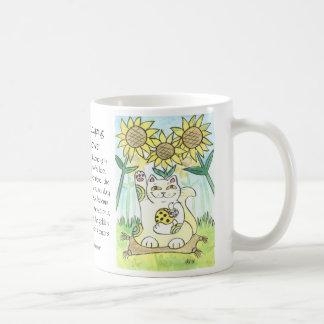 The Lucky Ladybug: Ms. Sunflower Classic White Coffee Mug