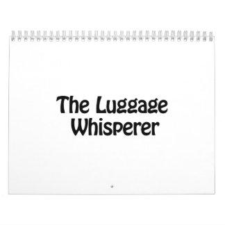 the luggage whisperer calendar