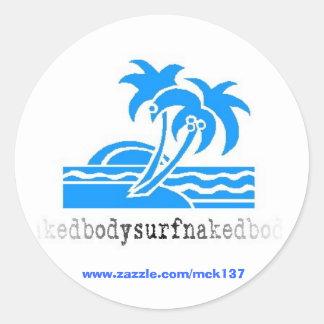 The Lulls Happen shirt from BSN Bodysurfing Appare Classic Round Sticker