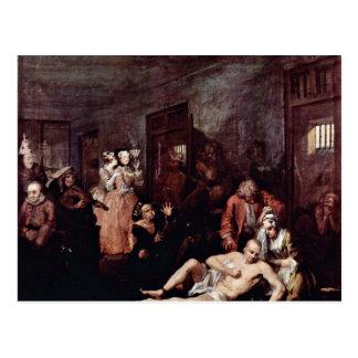 """The Lunatic Asylum """" By Hogarth William Post Card"""