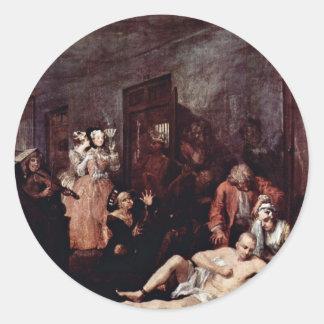 The Lunatic Asylum By Hogarth William Stickers