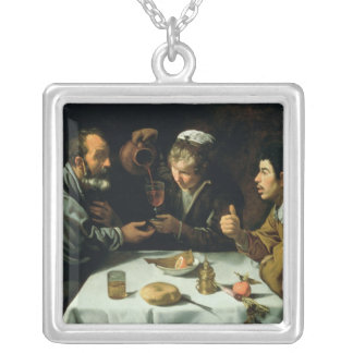 The Lunch, 1620 Silver Plated Necklace