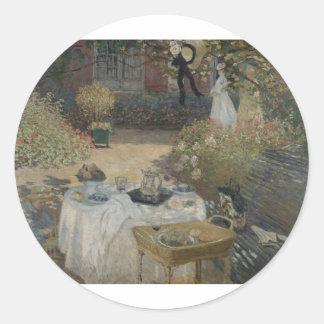 The Luncheon (1873) Classic Round Sticker