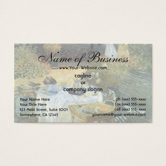 The Luncheon by Claude Monet Business Card