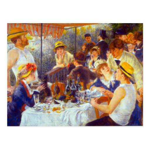 The Luncheon by Pierre Renoir Postcards