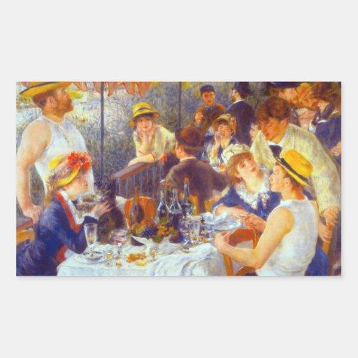The Luncheon by Pierre Renoir Rectangular Sticker