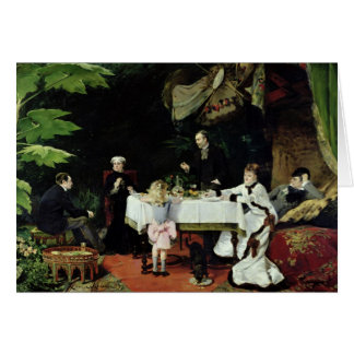 The Luncheon in the Conservatory, 1877 Card