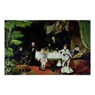The Luncheon in the Conservatory, 1877 Poster