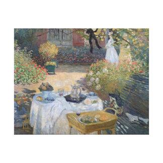 The Luncheon: Monet's garden at Argenteuil Canvas Print