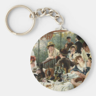 The Luncheon of the Boating Party Basic Round Button Keychain