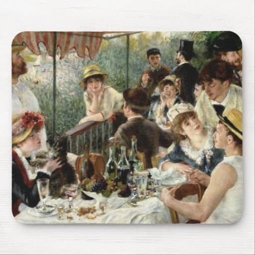 The Luncheon of the Boating Party Mouse Pad