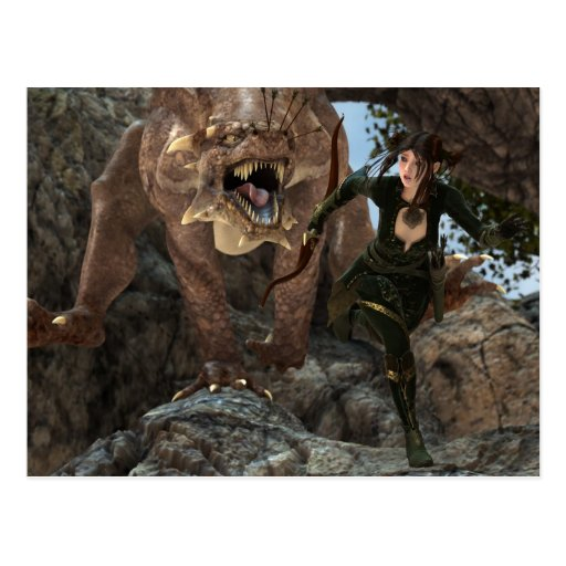 The Lure dragon postcard