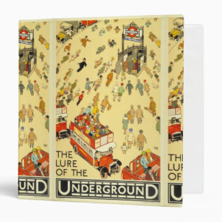 The Lure of the Underground, London 3 Ring Binder