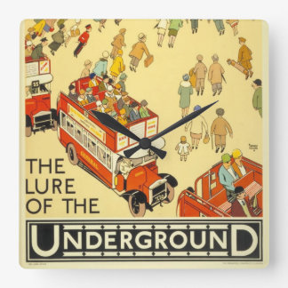 The Lure of the Underground, London Square Wall Clock