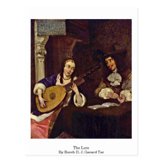 The Lute By Borch D. J. Gerard Ter Postcard