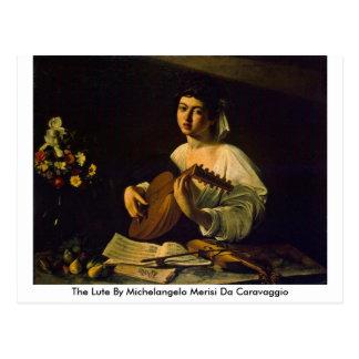 The Lute By Michelangelo Merisi Da Caravaggio Postcard