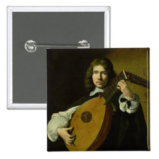 The Lute-Player Button