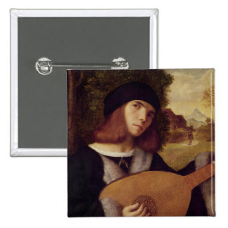 The Lute Player Button