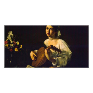 The Lute Player By Michelangelo Merisi Da Caravagg Picture Card