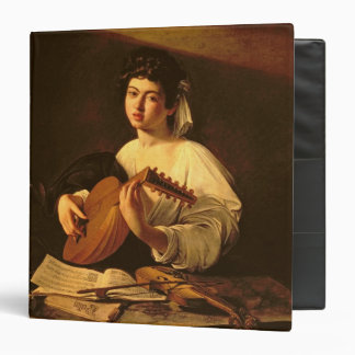The Lute Player c 1595 3 Ring Binder