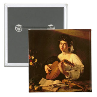 The Lute Player, c.1595 Pinback Button
