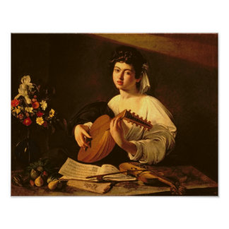 The Lute Player, c.1595 Poster