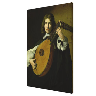 The Lute-Player Canvas Print