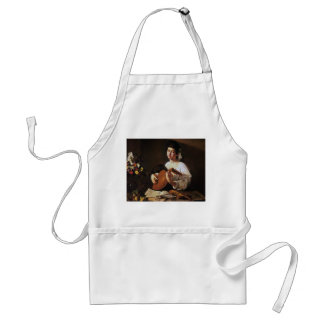 The Lute Player, Caravaggio Adult Apron