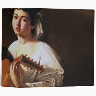 The Lute Player Caravaggio 3 Ring Binder