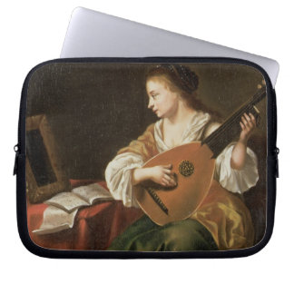 The Lute Player (oil on panel) Computer Sleeve