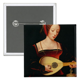 The Lute Player Pinback Button