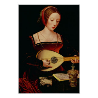 The Lute Player Poster