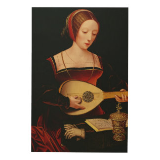 The Lute Player Wood Wall Art