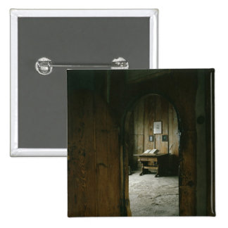 The Luther Room in the Wartburg Castle 2 Inch Square Button