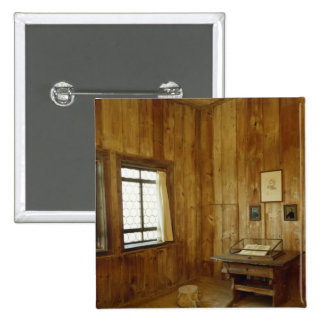 The Luther Room in Wartburg Castle 2 Inch Square Button