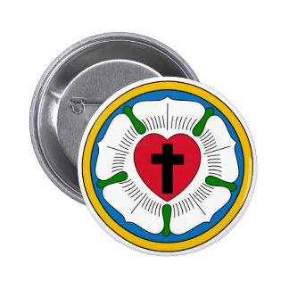 The Luther Rose Lutheranism Martin Luther 2 Inch Round Button