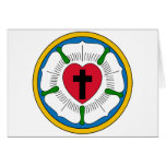 The Luther Rose Lutheranism Martin Luther Greeting Card