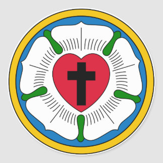 The Luther Rose Lutheranism Martin Luther Classic Round Sticker