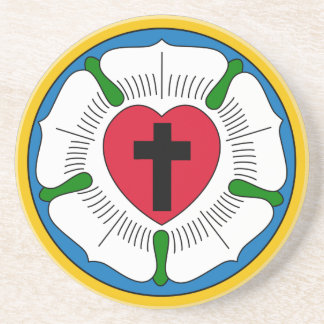 The Luther Rose Lutheranism Martin Luther Drink Coaster
