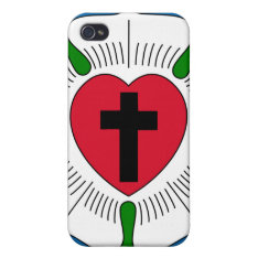 The Luther Rose Lutheranism Martin Luther Iphone 4/4s Cases at Zazzle