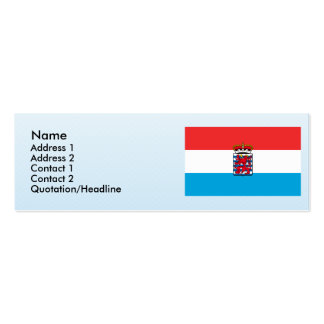 the  Luxembourg, Belgium Double-Sided Mini Business Cards (Pack Of 20)