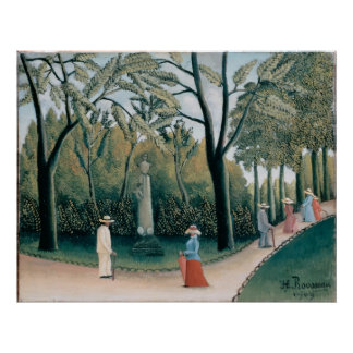 The Luxembourg Gardens. Monument to Chopin Poster