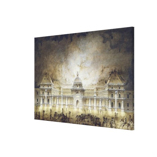The Luxembourg Palace Illuminated Canvas Print