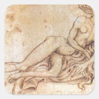 The Luxury by Pisanello Square Sticker