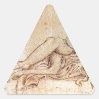 The Luxury by Pisanello Triangle Sticker