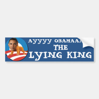 THE LYING KING OBAMA CAR BUMPER STICKER
